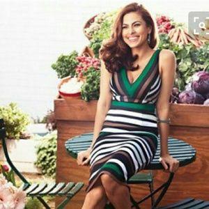Eva. Mendes women's multi color striped dress